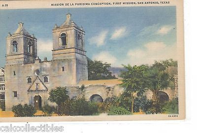 Mission De La Purisima Conception,First Mission-San Antonio,Texas - Cakcollectibles