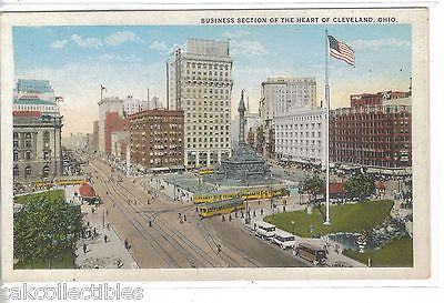 Business Section of The Heart of Cleveland,Ohio - Cakcollectibles