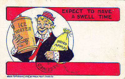 Expect To Have A Swell Time Comic Postcard - Cakcollectibles