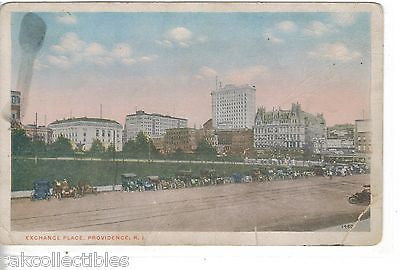 Exchange Place-Providence,Rhode Island 1917 - Cakcollectibles