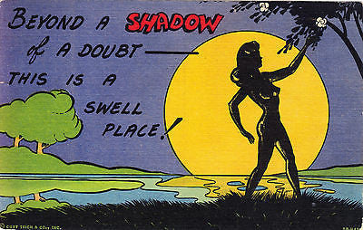 Beyond A Shadow Of A Doubt Comic Postcard - Cakcollectibles