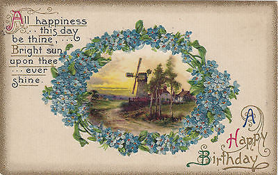 A Happy Birthday John Winsch Embossed Postcard - Cakcollectibles
