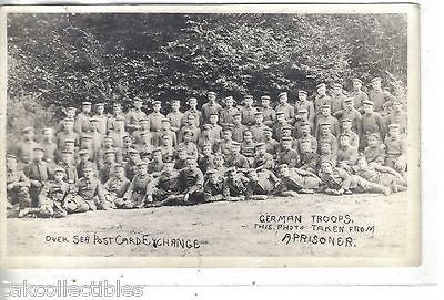 RPPC-German Troops-This Photo Taken From A Prisoner - Cakcollectibles - 1