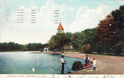 Douglas Park Chicago Postcard - Cakcollectibles