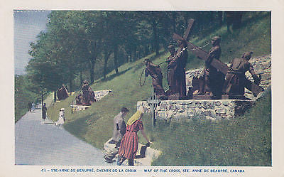 """Way Of The Cross"" St. Anne De Beaupre, Canada, Postcard - Cakcollectibles - 1"
