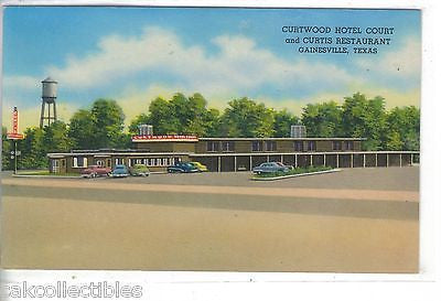 Curtwood Hotel Court & Curtis Restaurant-Gainesville,Texas - Cakcollectibles - 1