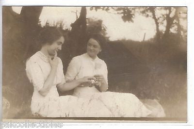 RPPC-2 Women Holding Hands - Cakcollectibles - 1