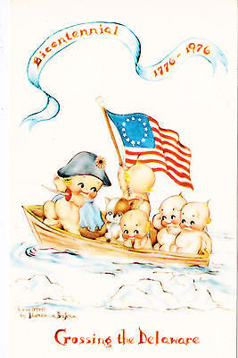 Crossing The Delaware Comic Postcard - Cakcollectibles