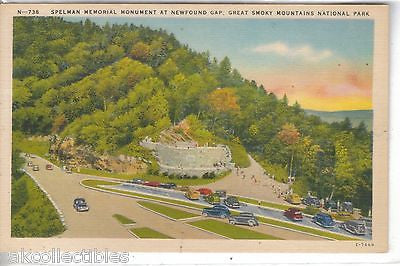 Spelman Memorial Monument at Newfoud Gap-Great Smoky Mts. National Park - Cakcollectibles