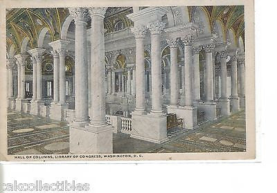 Hall of Columns,Library of Congress-Washington,D.C. - Cakcollectibles