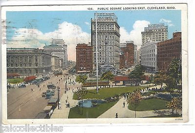 Public Square,Looking East-Cleveland,Ohio 1928 - Cakcollectibles