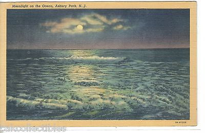 Moonlight on The Ocean-Asbury Park,New Jersey 1941 - Cakcollectibles
