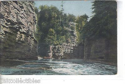 Beginning of The Rapids-Ausable Chasm,New York - Cakcollectibles