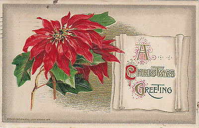 John Winsch Embossed Christmas Greetings Postcard - Cakcollectibles