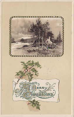 Embossed Scenic Christmas John Winsch Postcard - Cakcollectibles