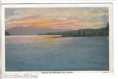 Sunset on Kokadjo Lake-Maine - Cakcollectibles