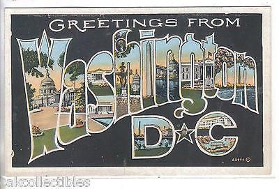 Large Letter-Greetings from Washington,D.C. - Cakcollectibles