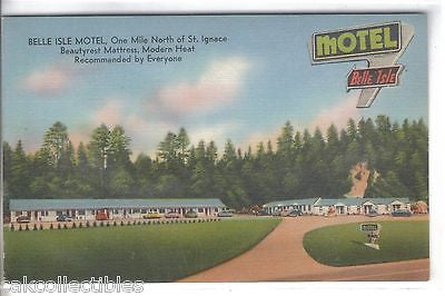 Belle Isle Motel near St. Ignace,Michigan - Cakcollectibles - 1