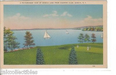 A Picturesque View of Seneca Lake from Country Club-Geneva,New York - Cakcollectibles