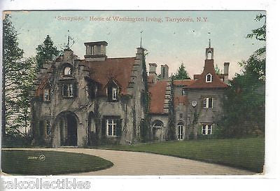 """Sunnyside"",Home of Washington Irving-Tarrytown,New York 1910 - Cakcollectibles"