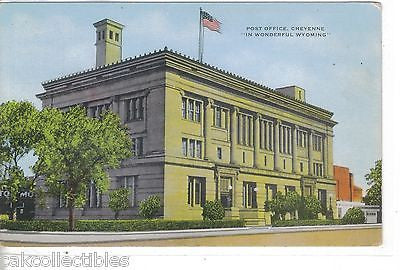 Post Office-Cheyenne,Wyoming - Cakcollectibles