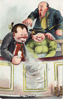 Im Theater Comic Postcard - Cakcollectibles