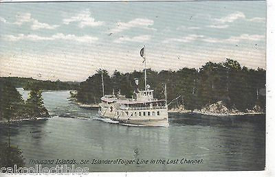 Steamer Islander of Floger Line on the Lost Channel-Thousand Islands,N.Y. UDB - Cakcollectibles