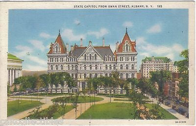 State Capitol from Swan Street-Albany,New York - Cakcollectibles