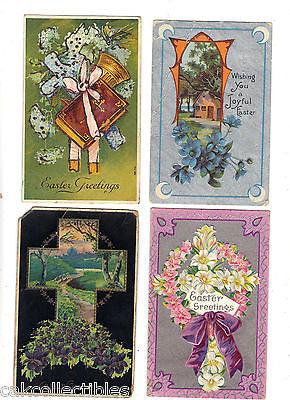 Lot of 4 Antique Easter Post Cards-Lot 44 - Cakcollectibles - 1