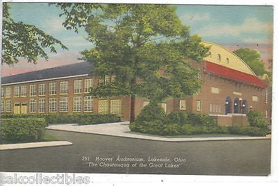 "Hoover Auditorium-Lakeside,Ohio ""The Chautauqua of The Great Lakes"" 1958 - Cakcollectibles"