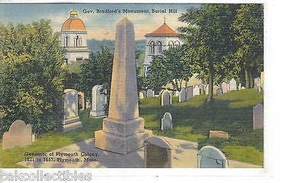 Gov. Bradford's Monument,Burial Hill-Plymouth,Massachusetts - Cakcollectibles