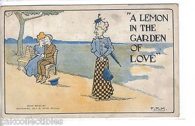 """A Lemon in The Garden of Love""-Comic Post Card - Cakcollectibles"