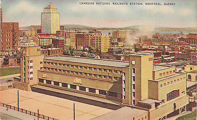 Canadian National Railways Station, Montreal, Quebec Postcard - Cakcollectibles - 1