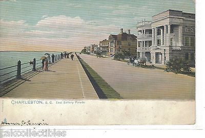 East Battery Parade-Charleston,South Carolina 1904 - Cakcollectibles - 1