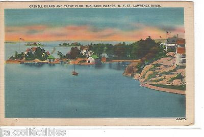 Grenell Island and Yacht Club-Thousand Islands,New York - Cakcollectibles