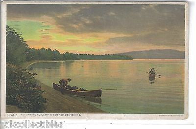 Returning To Camp After A Day's Fishing 1911 - Cakcollectibles