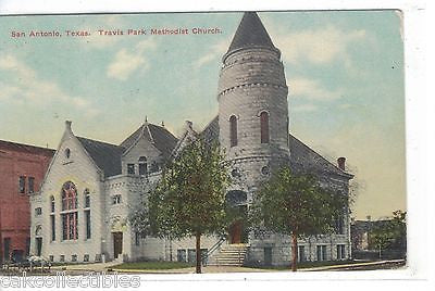 Travis Park Methodist Church-San Antonio,Texas 1910 - Cakcollectibles