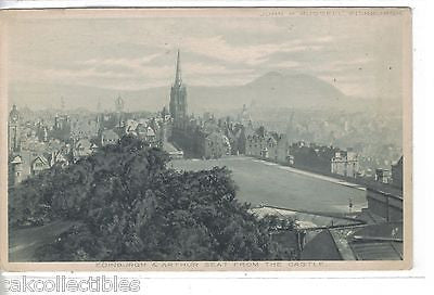 Edinburgh & Arthur Seat from The Castle - Cakcollectibles