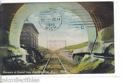 Entrance of Tunnel from Interior-Port Huron,Michigan 1910 - Cakcollectibles - 1