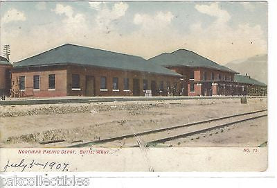 Northern Pacific Depot-Butte,Montana 1907 - Cakcollectibles - 1