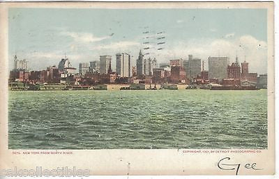 New York from North River 1906 - Cakcollectibles