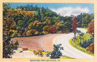 Greetings From Baltimore Maryland Postcard - Cakcollectibles