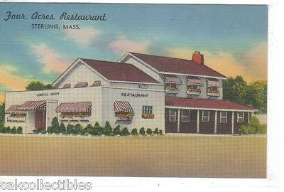 Four Acres Restaurant-Sterling,Massachusetts - Cakcollectibles - 1