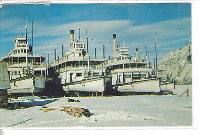 Sternwheelers used in The 1898 Gold Rush-Whitehorse,Yukon Territory 1961 - Cakcollectibles