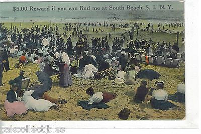 Beach Scene-South Beach,S.I.,New York 1910 - Cakcollectibles