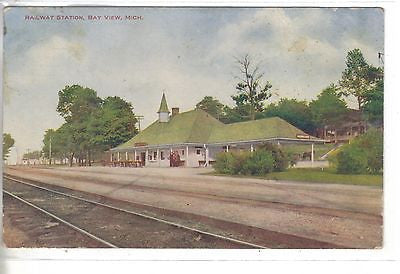 Railway Station-Bay View,Michigan - Cakcollectibles - 1