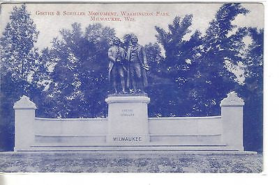 Goethe & Schiller Monument,Washington Park-Milwaukee,Wisconsin - Cakcollectibles