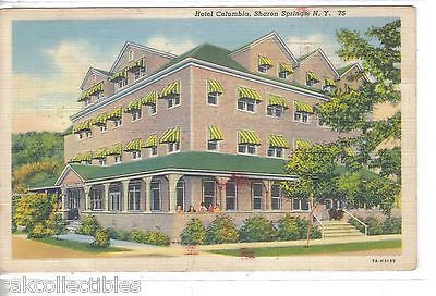 Hotel Columbia-Sharon Springs,New York 1945 - Cakcollectibles