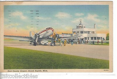 Kent County Airport-Grand Rapids,Michigan 1941 - Cakcollectibles - 1