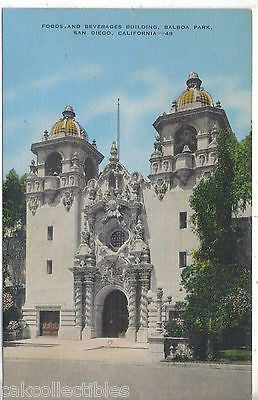 Foods and Beverages Building,Balboa Park-San Diego,California - Cakcollectibles